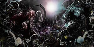 Carnage vs Venom by Awakening-Scarlet