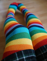 Rainbow Socks by Yonnji