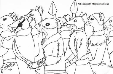 Redwall vermin horde concept by MaguschildCloud