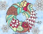Wreath card by MaguschildCloud