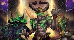 Illidan's Chosen Few   WoWhead Legion Art Contest by Magnomic
