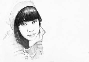 Sketch - Miss Abby by mikaelabrina