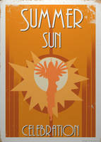 Summer Sun Celebration Poster by BTedge116