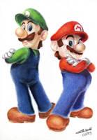 Mario and Luigi - The Mario Bros. Series by KyraXIII