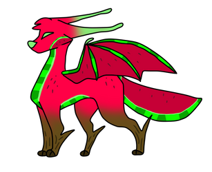 Melon Dragon Adopt [CLOSED] by strangermutt