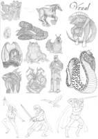 Deltora Quest - Sketchdump 1 by King-of-Deltora
