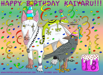 Happy Birthday Kaiyaru!!! by PepperLizard