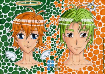 Mira Mint and Gurasu Green by PepperLizard