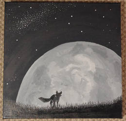 The fox and the Moon by Dnigel