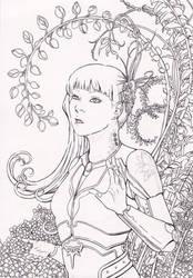 Leaves - lineart by firedaemon