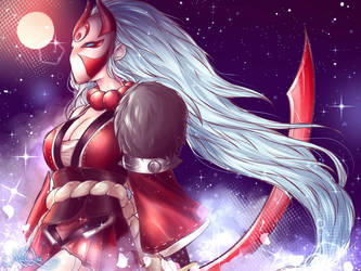 Blood moon Diana by MaiuLive