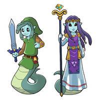 Modest Medusa as Link and Princess Hilda by JakeRichmond