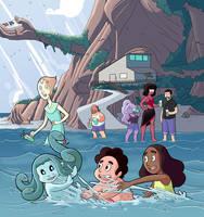 Modest Medusa meets Steven Universe Beach Party by JakeRichmond