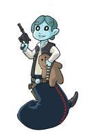 Han Solo Modest Medusa by JakeRichmond