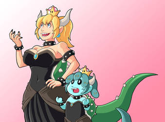 Bowsette and Modest Medusa by JakeRichmond