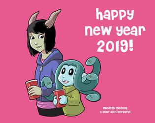 Modest Medusa New Year 2019 by JakeRichmond