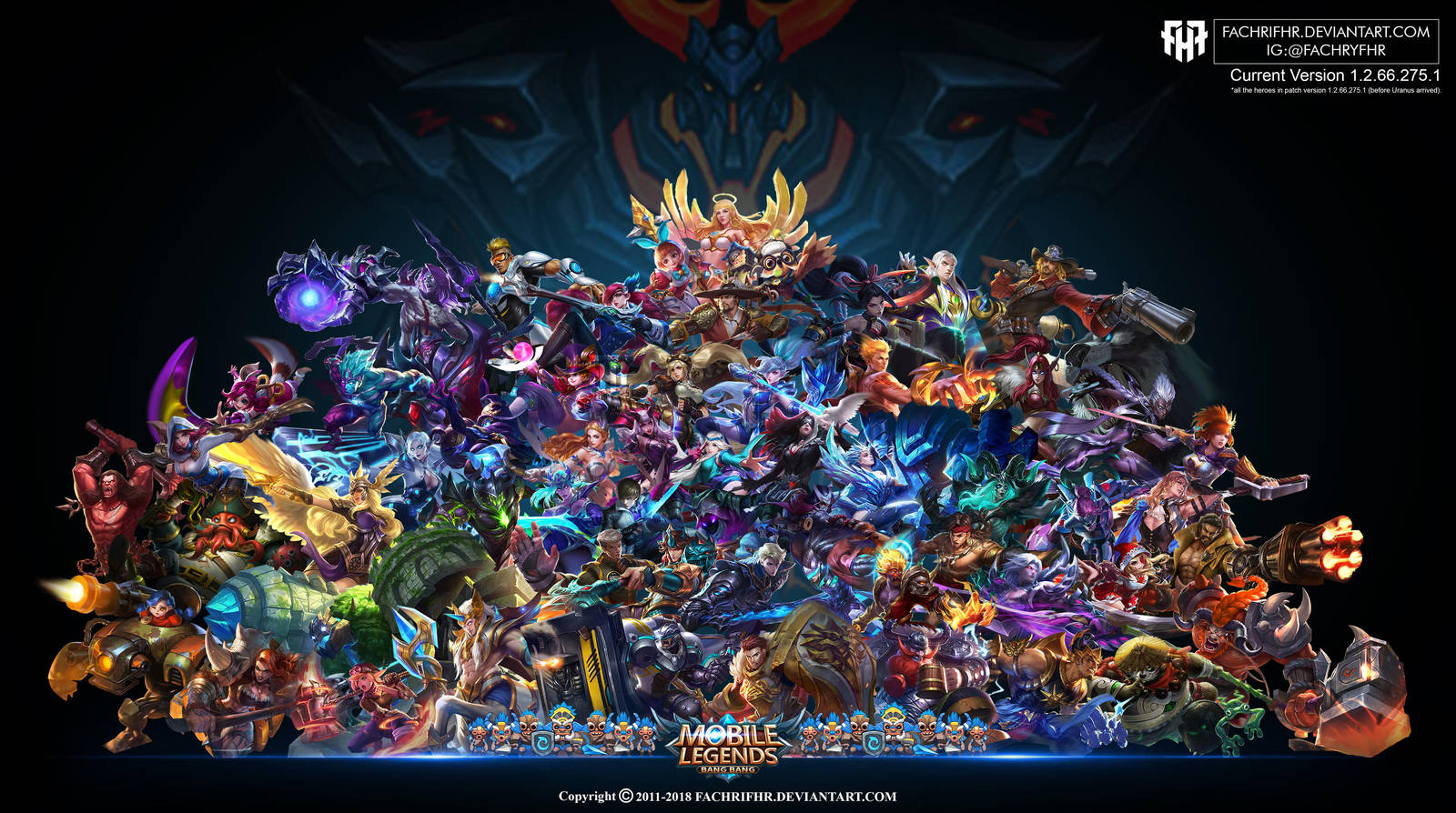 Wallpaper Desktoppc Mobile Legend Hd All Hero By Fachrifhr On