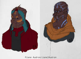 OC: Turian Twins by Jane2Audron