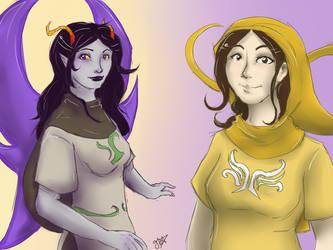 Helene and Syvanna by gr8brittyn-star
