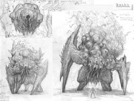 Early Rocky (Behemoth) Drawings by ScottFlanders