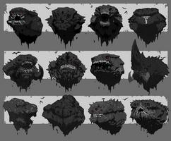 Titan (Behemoth) Head Thumbnails by ScottFlanders