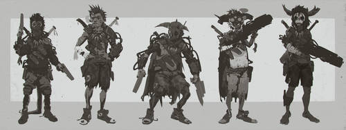 Evolve Trapper 'Jack' Character Concepts by ScottFlanders
