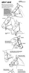 How to draw tack Bridles and Bits by sketcherjak