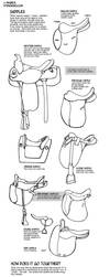How to draw tack Saddles by sketcherjak