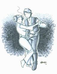Dancin' Han and Leia by stratosmacca