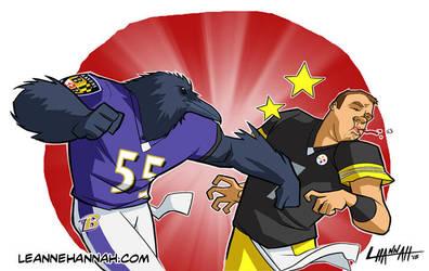 Ravens vs Steelers by stratosmacca