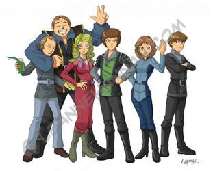 Blake's 7, Anime Style by stratosmacca