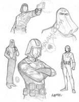 Cobra Commander Sketches by stratosmacca