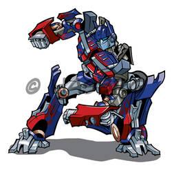 Optimus Prime by stratosmacca
