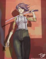 Saya - Deadly Class Fanart by TheObliviousOwl