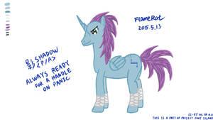 Pony OC: Shadow by FlameRat-YehLon