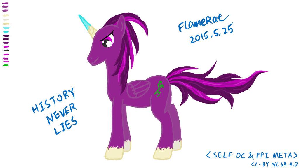 [Self Pony OC] FlameRat by FlameRat-YehLon