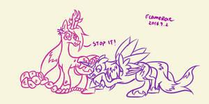 [Contest entry] Snerdsister's long mane by FlameRat-YehLon