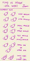 Pony OC design idea sheet: element size by FlameRat-YehLon