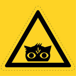 Nightmare Eye Hazard Sign by FlameRat-YehLon