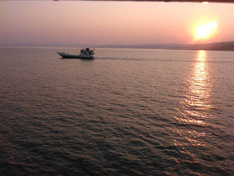 Ferry Boat Sunset by stelios53