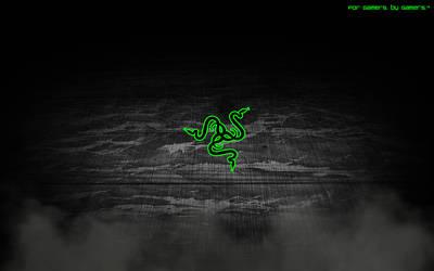Razer logo wallpaper by stelios53