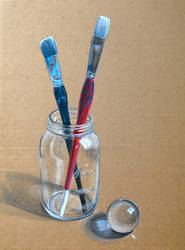 cardboard n glass by dragorien