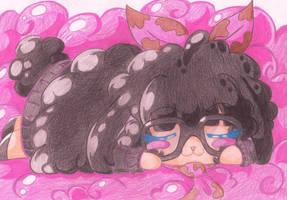 Chosen-Bubblegum Sheep Sleeping by Viodino