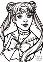 Sailor Moon SKETCH 2 by Elena-Barilli