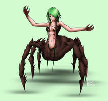 30 monster girls challenge - 6. Spider girl by Leadpanda