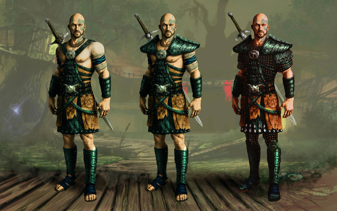 Swamp camp. Templar armor by Lotsmanov