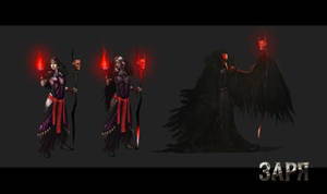 Witch-crow (Yaga) concept by Lotsmanov
