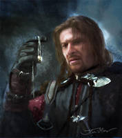 Boromir Speed Painting by JoeOliverArt