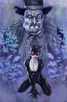 Catwoman and Penguin by superegomark