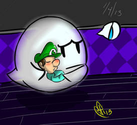 Boo and Baby Luigi by Airusana